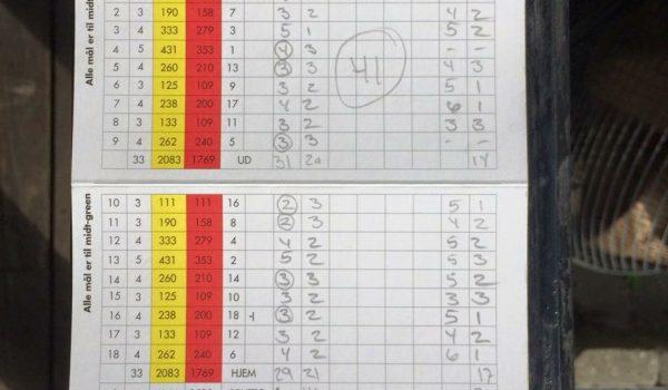 Albertslund golfklub Nicklas C.Nielsen klubrekord